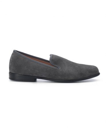 Duke & Dexter Grey Suede Loafers