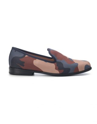 Duke & Dexter Blue & Brown Camouflage Loafers