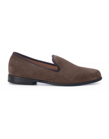 Duke & Dexter Brown Suede Loafers