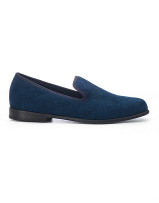 Duke & Dexter Blue Quilted Loafers