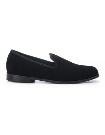 Duke & Dexter Black Quilted Loafers