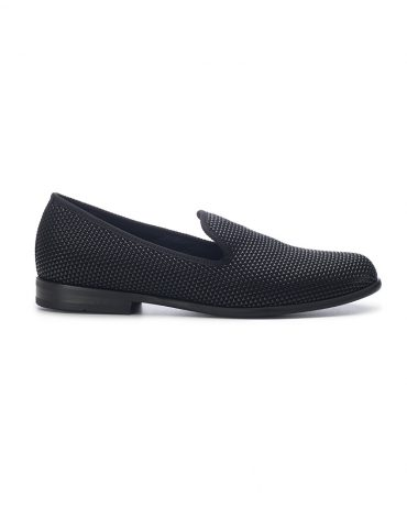 Duke & Dexter Black Pyramid Loafers