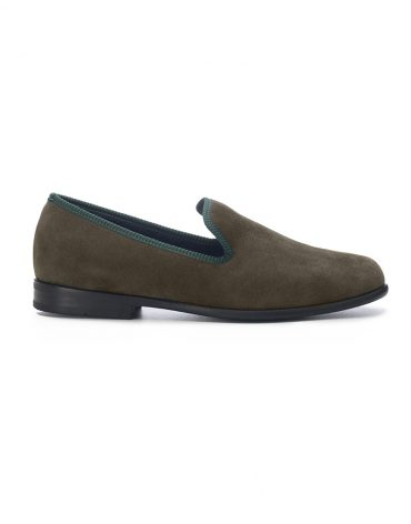 Duke & Dexter Green Suede Loafers
