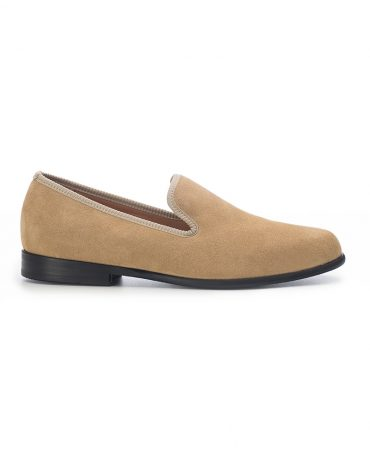 Duke & Dexter Light Tan Suede Loafers