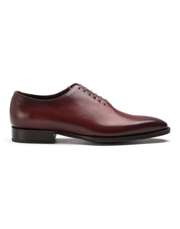 Andrés Sendra Plain Toe Burgundy Oxford Shoe