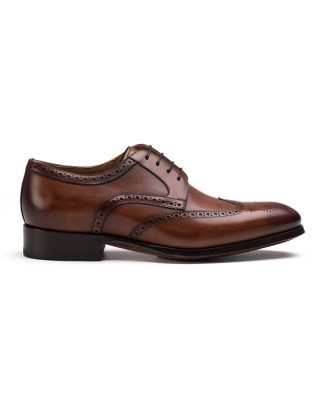 Magnanni Cognac Derby Brogue Shoe