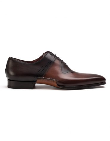 Magnanni Cognac and Brown Oxford Shoe