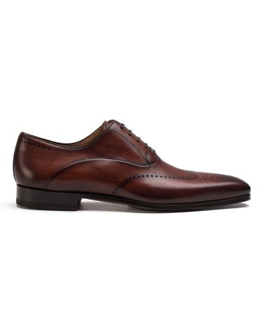 Magnanni Cognac Wingtip Medallion Oxford Shoe
