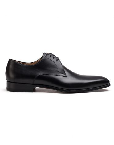 Magnanni Black Derby Shoe