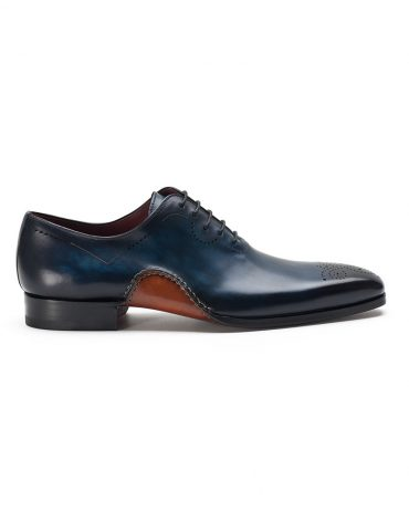 Magnanni Blue One Cut Medallion Oxford Shoe