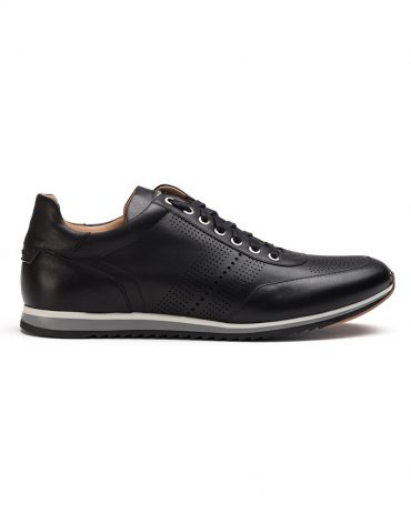 Magnanni Black Perforated Sneakers