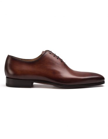 Magnanni Cognac One Cut Oxford Shoe