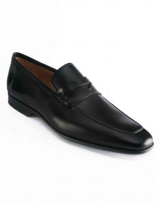 APRON TOE BLACK PENNY LOAFER2