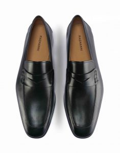 APRON TOE BLACK PENNY LOAFER4