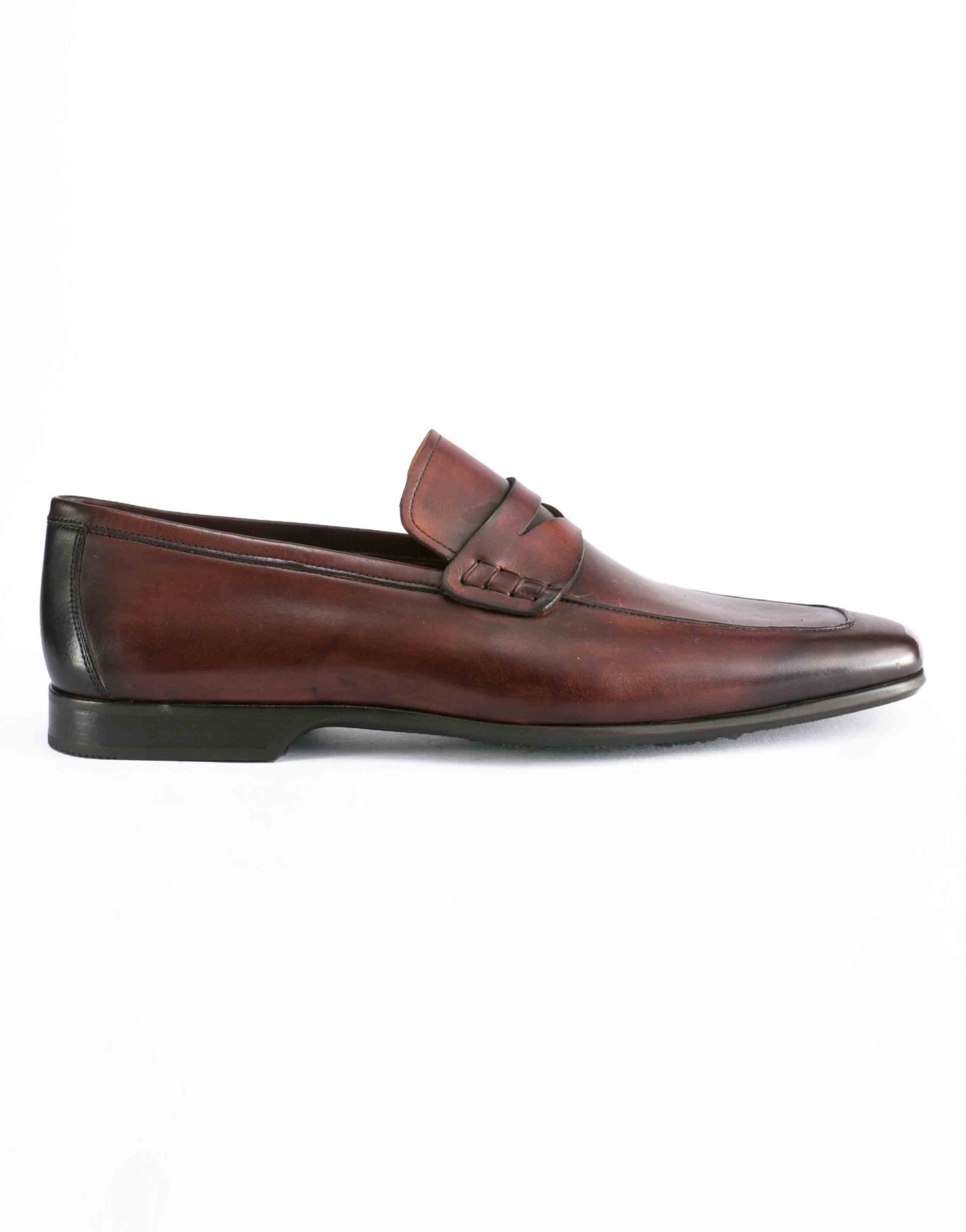 APRON TOE MID BROWN PENNY LOAFER1