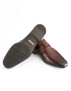 APRON TOE MID BROWN PENNY LOAFER3