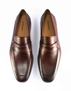 APRON TOE MID BROWN PENNY LOAFER4