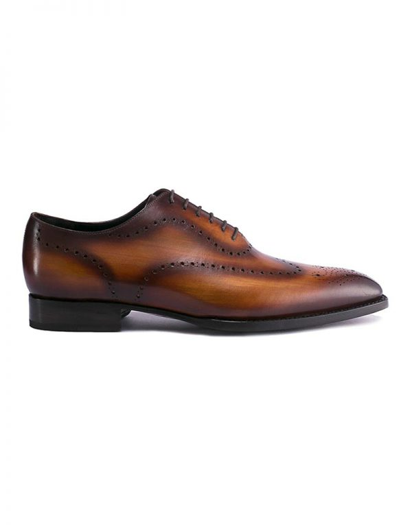 Andrés Sendra Dark Brown Patina Brogue Oxford