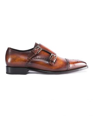 Andrés Sendra Burnt Brown Patina Double Monk