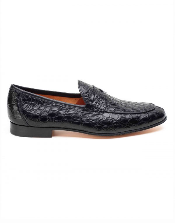 BLACK CROC LOAFER1