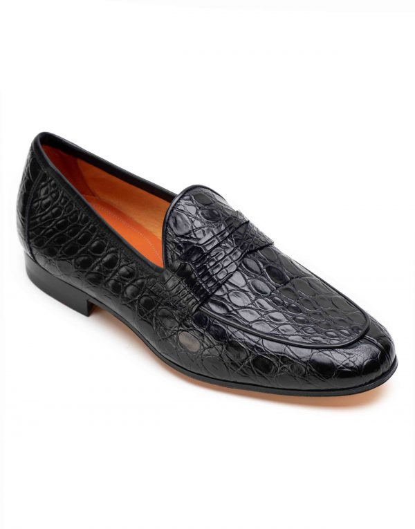 BLACK CROC LOAFER2