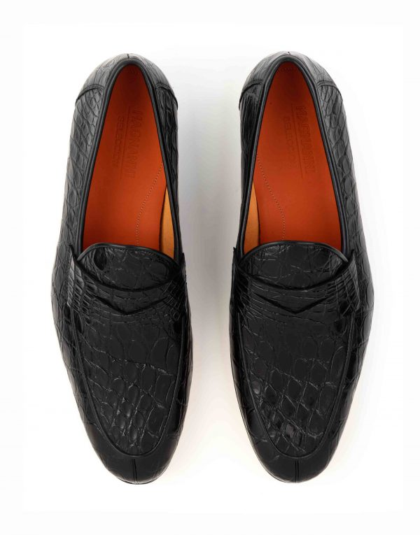 BLACK CROC LOAFER4