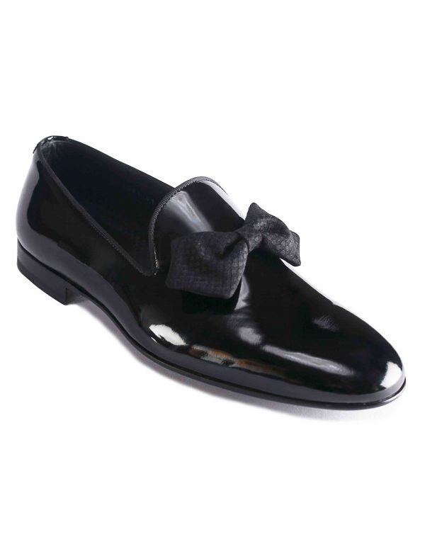 BLACK PATENT LEATHER BOW LOAFER2