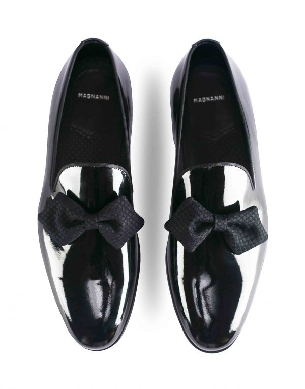 BLACK PATENT LEATHER BOW LOAFER4