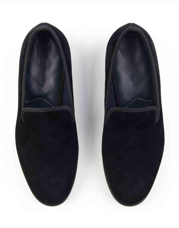 BLACK QUILTED LOAFERS4