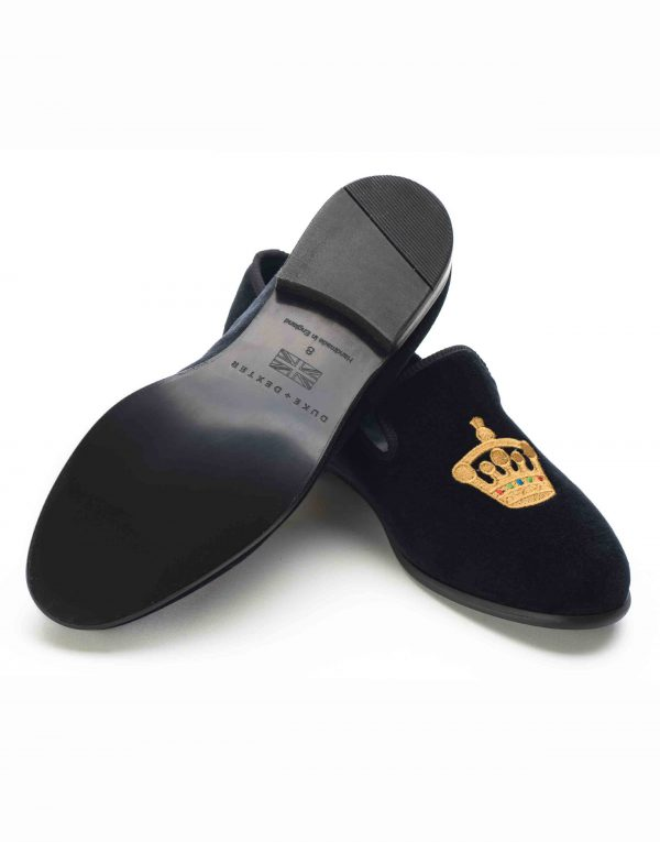 BLACK VELVET LOAFERS – CROWN3