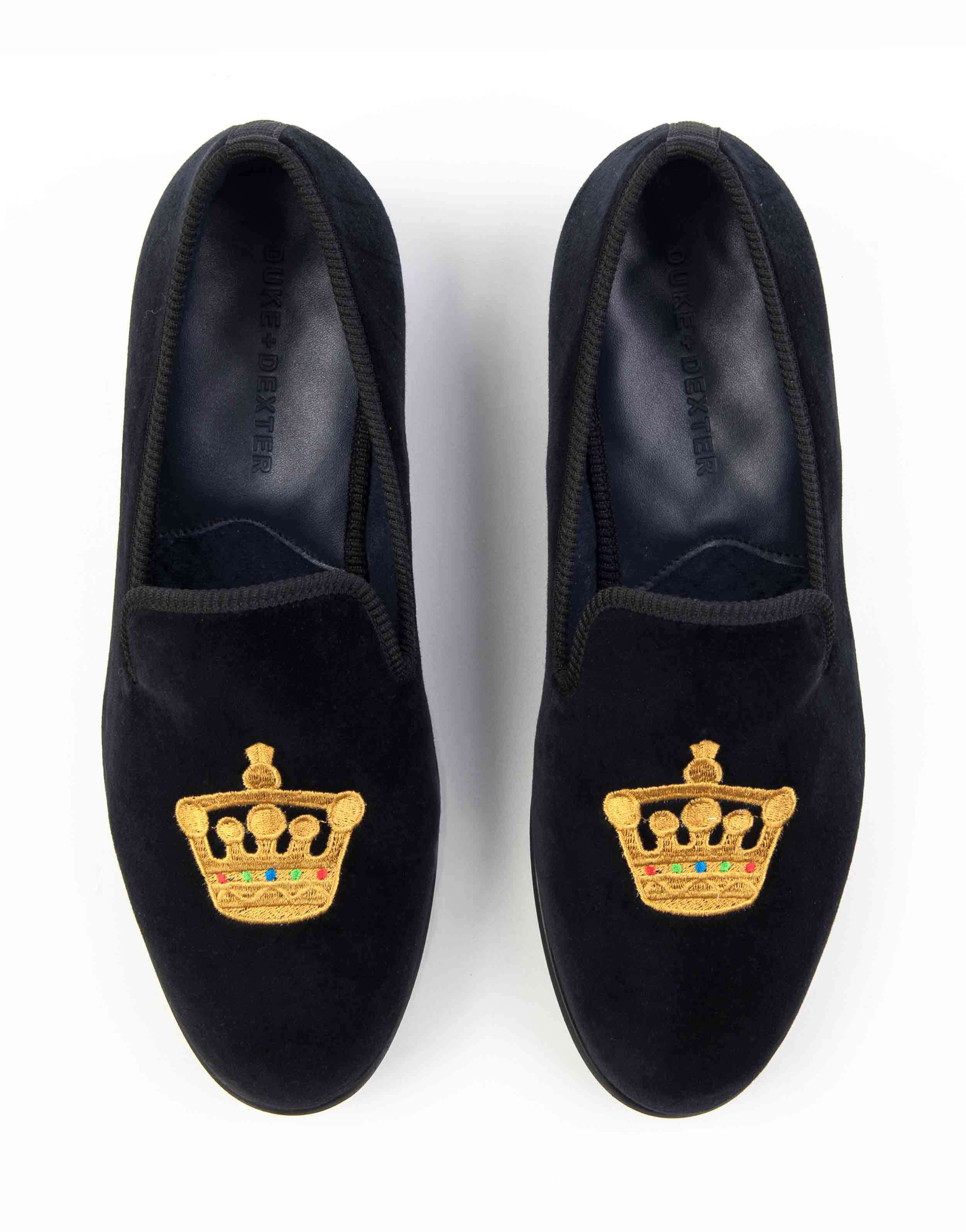 BLACK VELVET LOAFERS – CROWN4