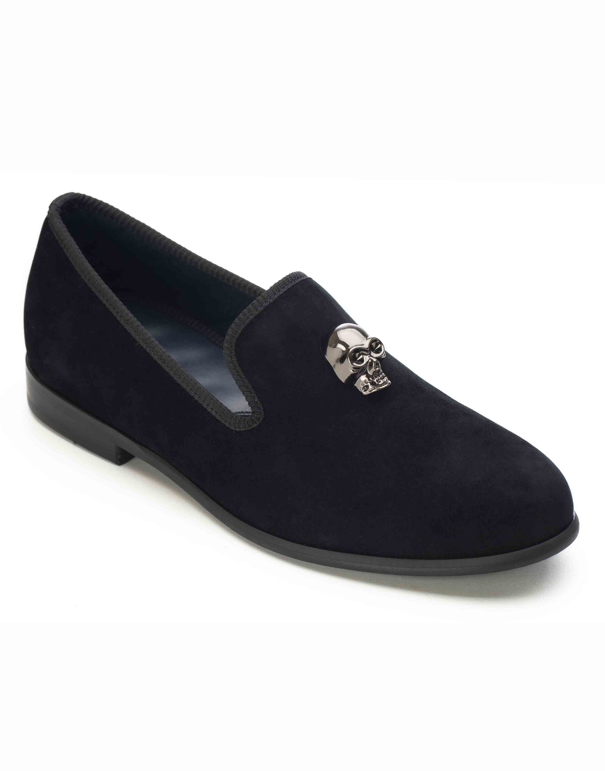 BLACK VELVET LOAFERS – SKULL2