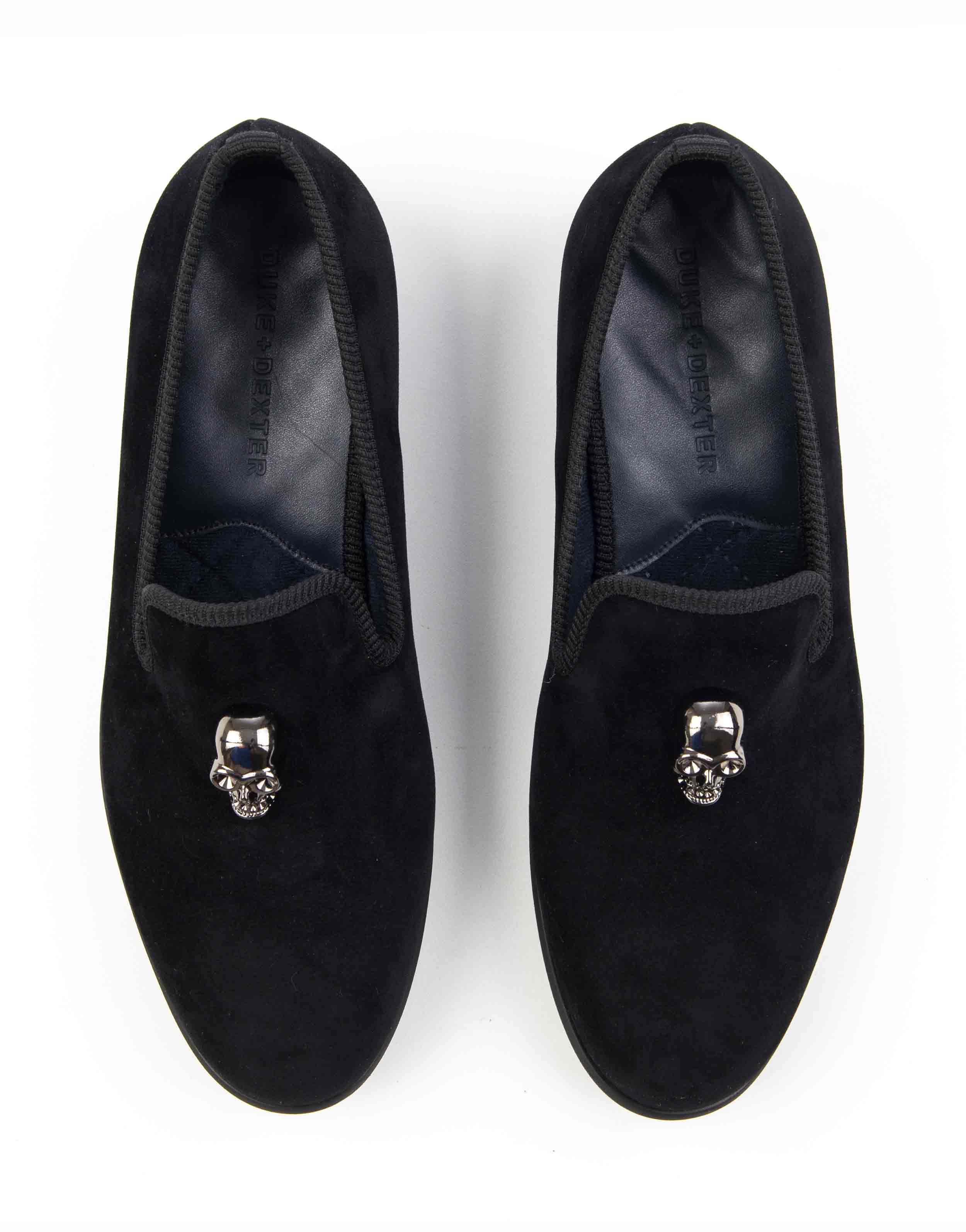 BLACK VELVET LOAFERS – SKULL4