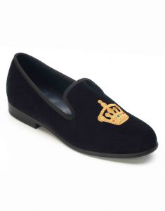 BLACK VELVET LOAFERS – CROWN2