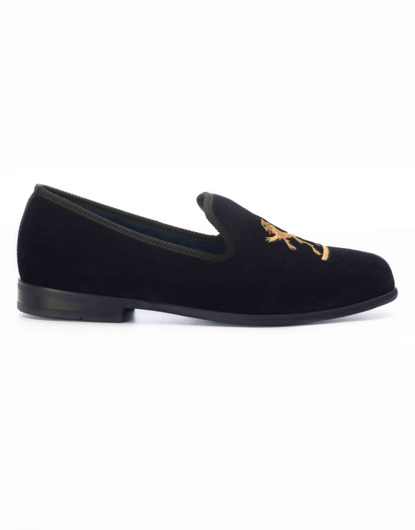 BLACK VELVET LOAFERS – SIMBA1