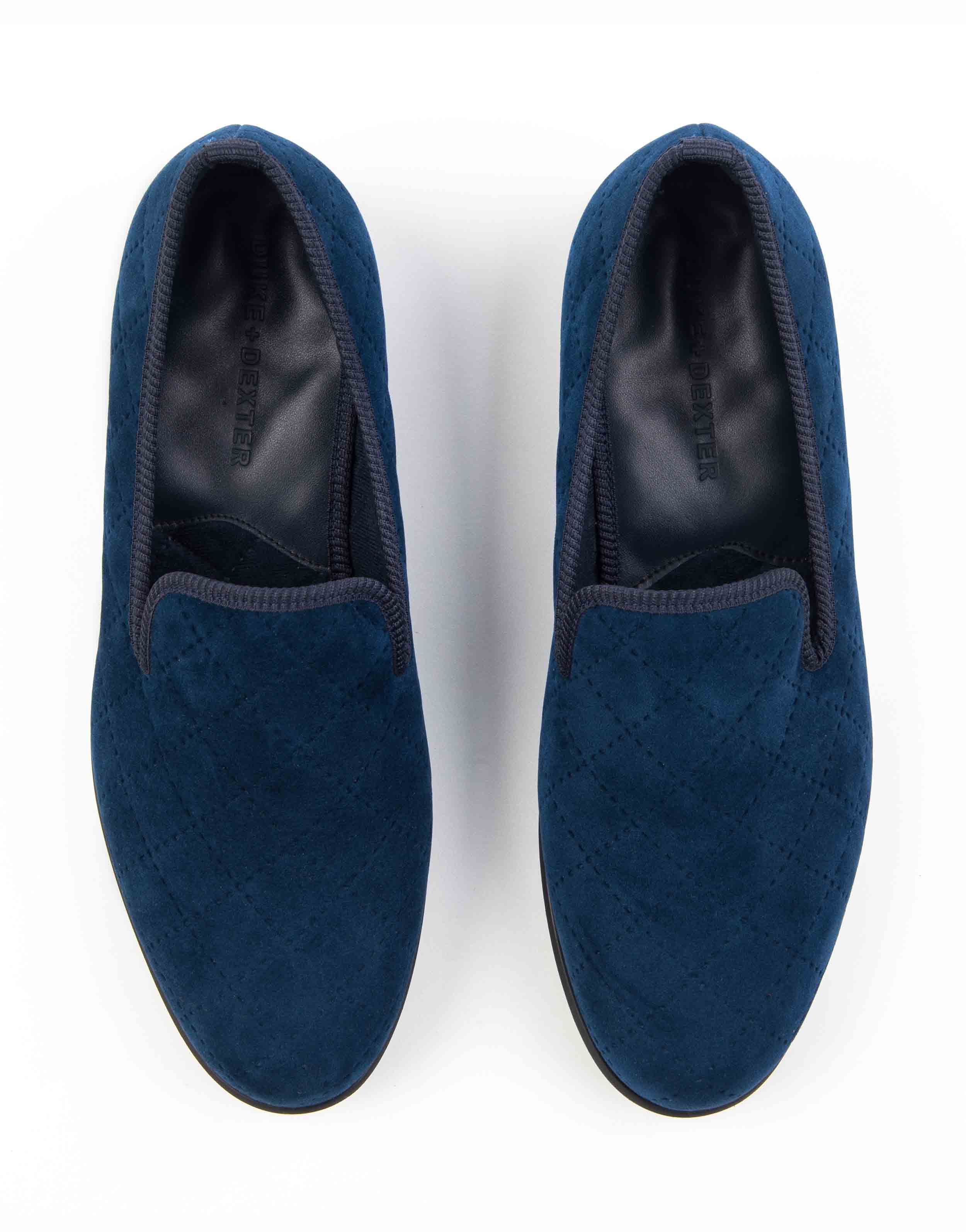 BLUE QUILTED LOAFERS4