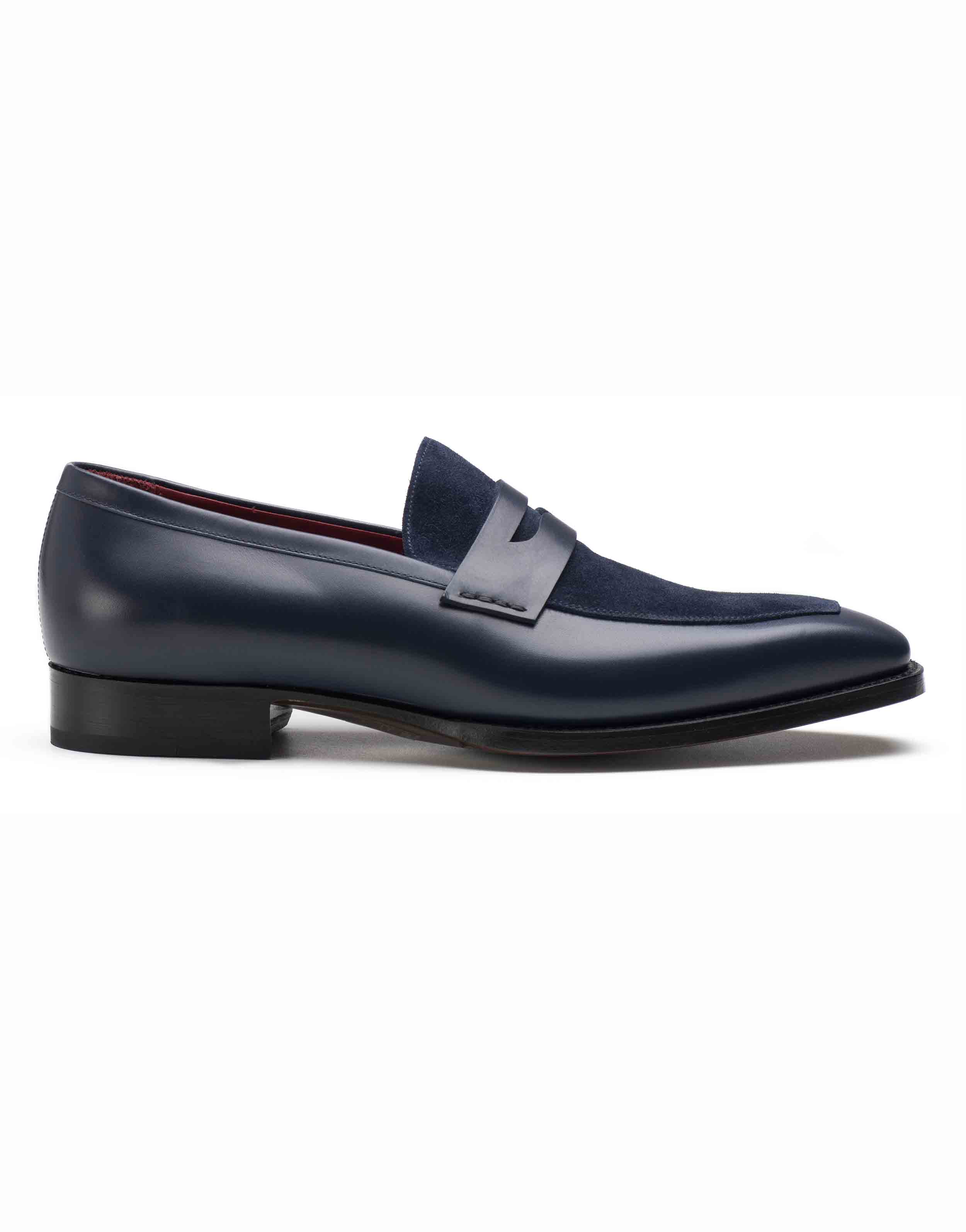 BLUE TWO TONE PENNY LOAFERS1