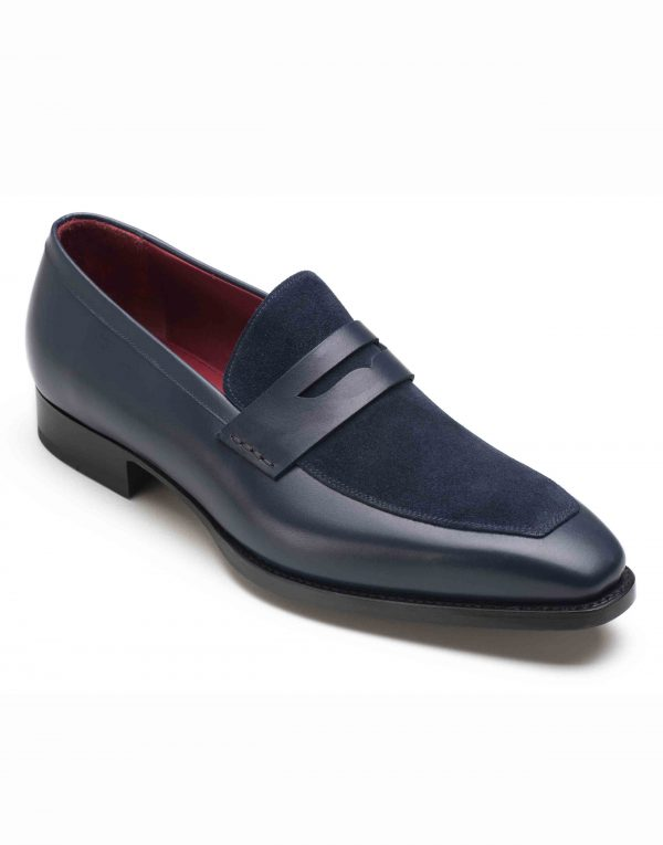 BLUE TWO TONE PENNY LOAFERS2