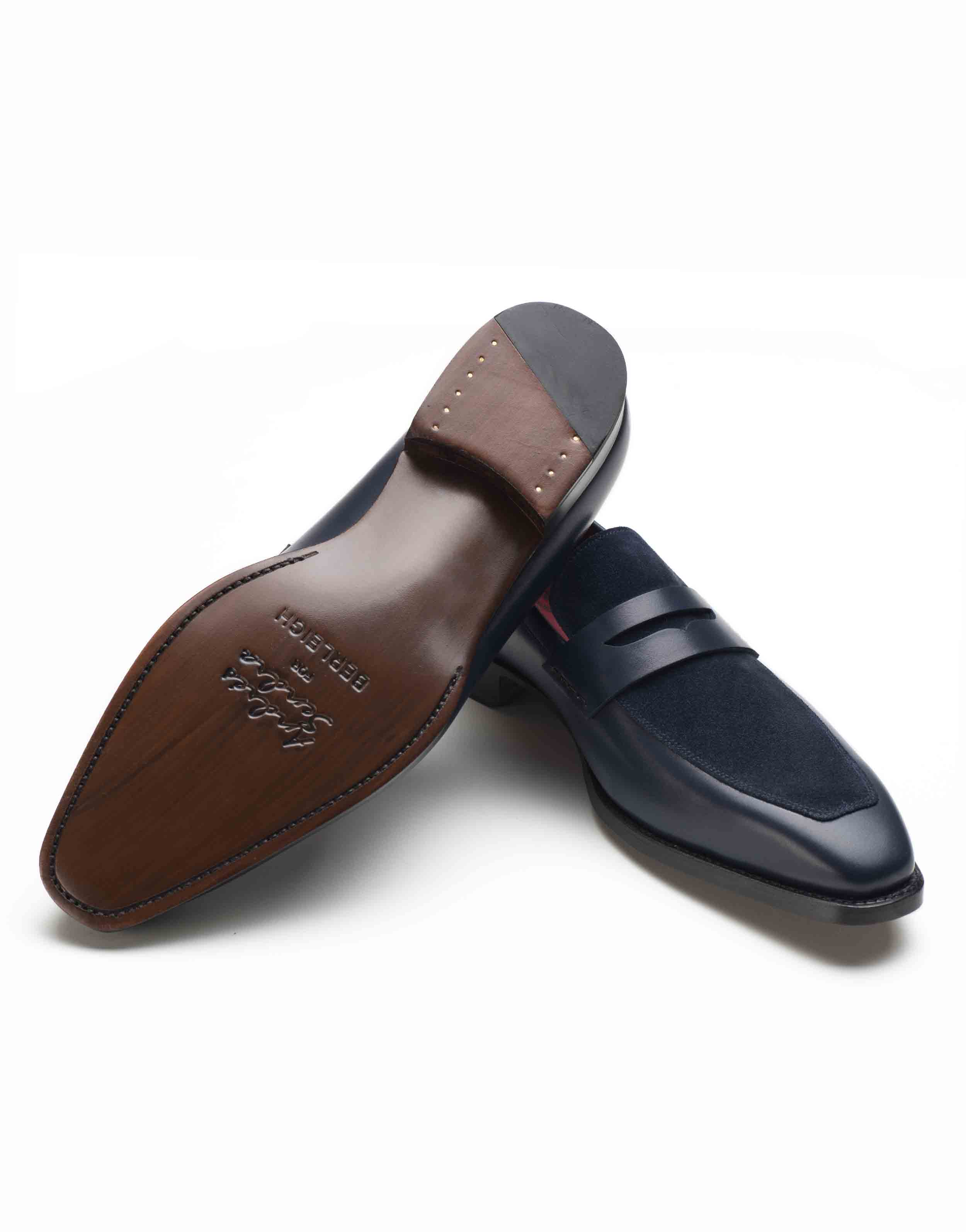 BLUE TWO TONE PENNY LOAFERS3