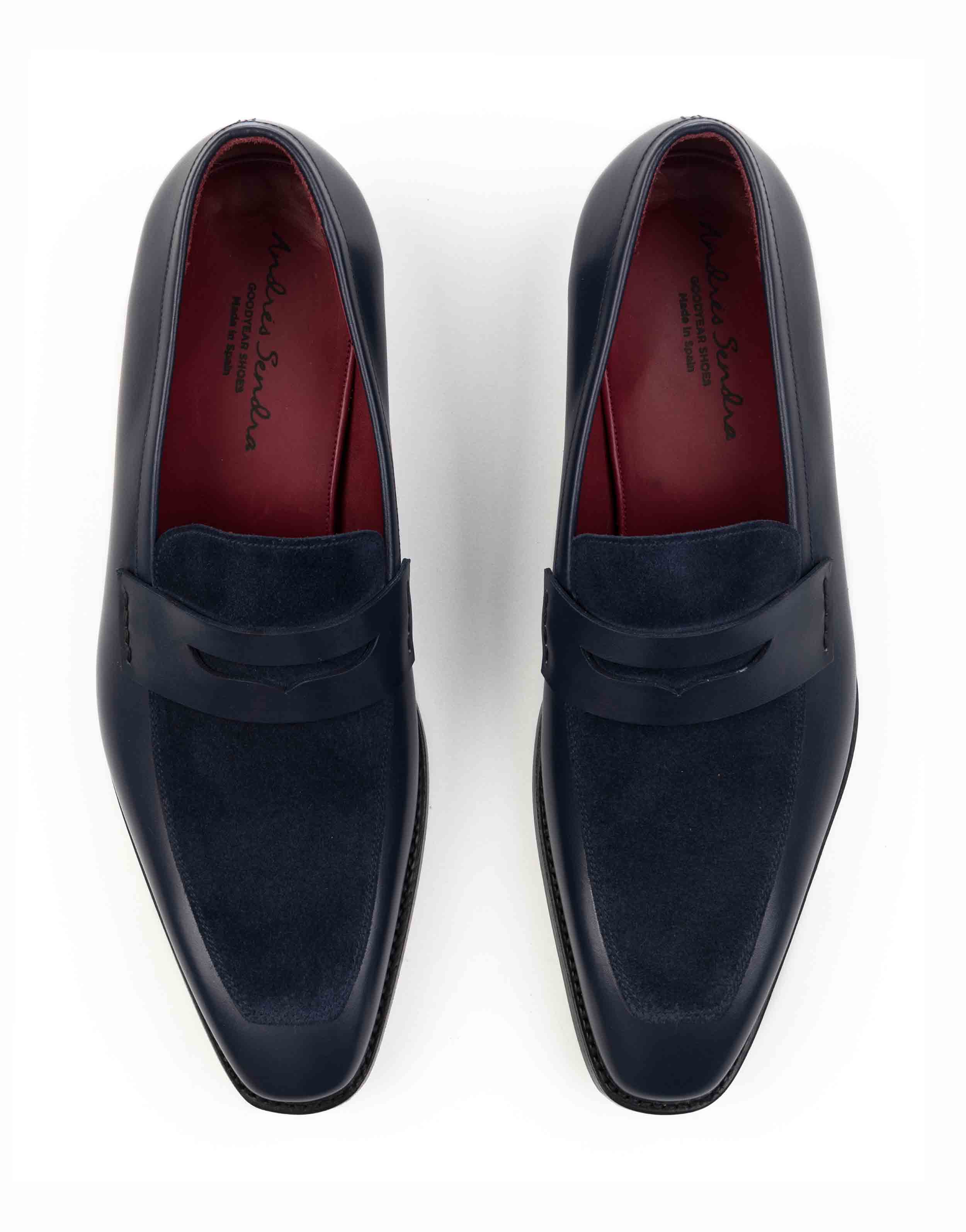 BLUE TWO TONE PENNY LOAFERS4