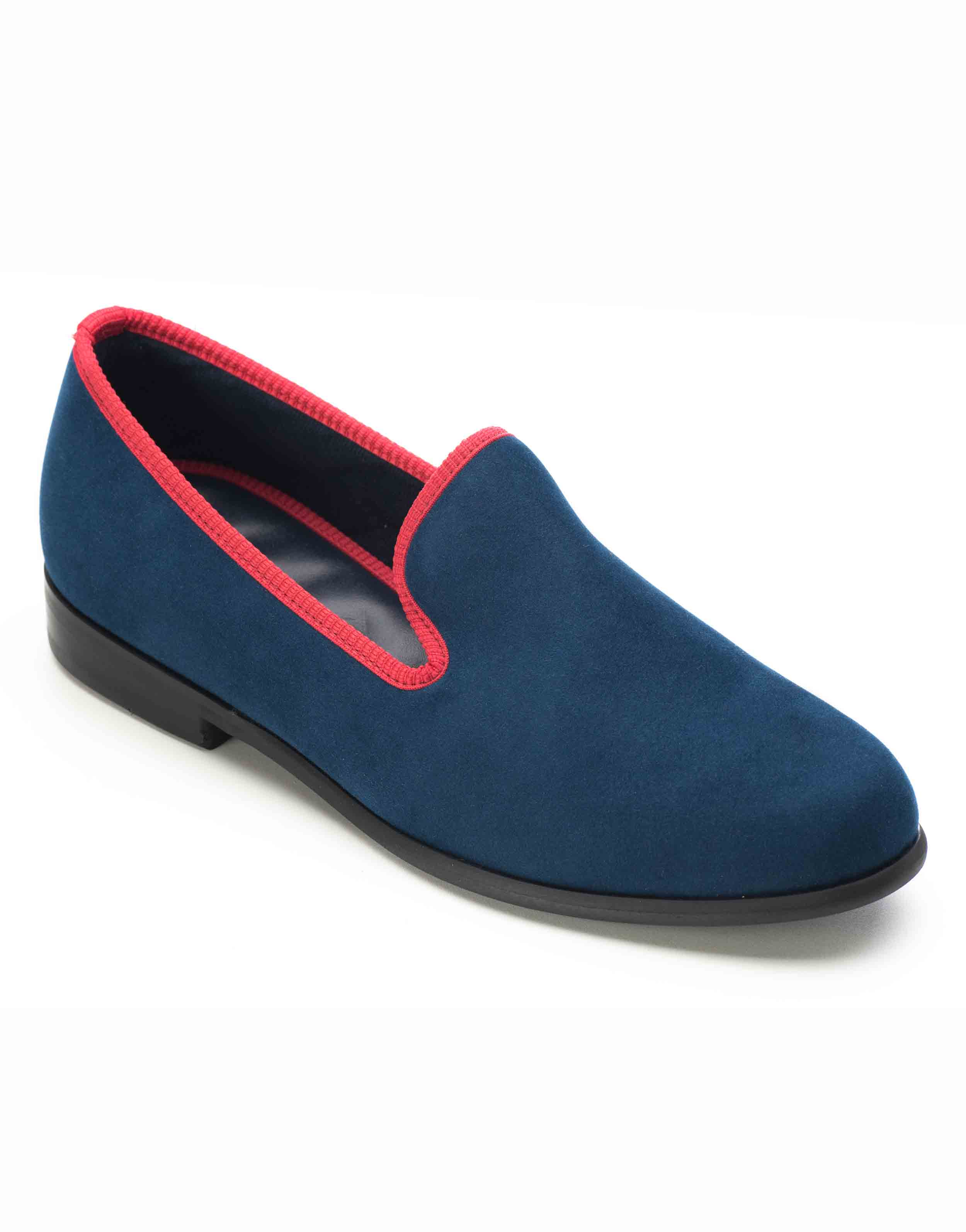 BLUE WITH RED TRIM SUEDE LOAFERS2