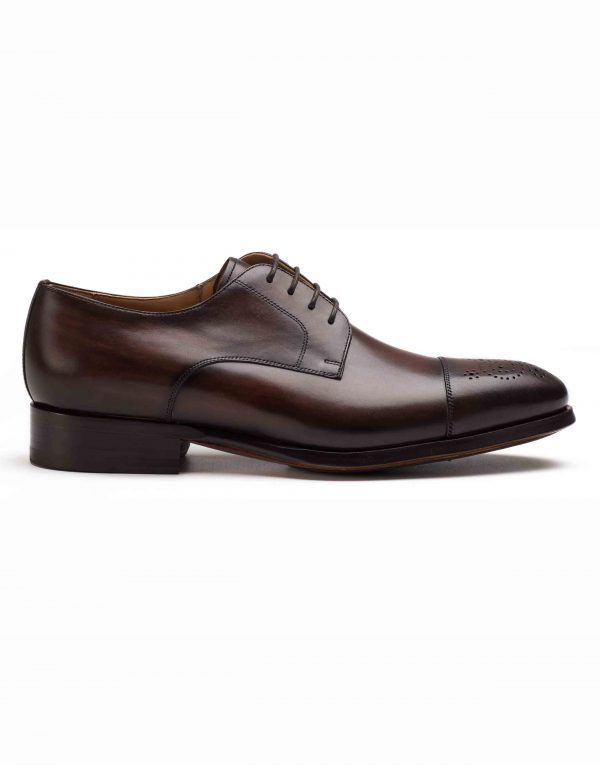 BROWN CAP-TOED DERBY SHOE1