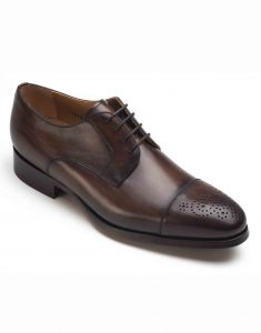 BROWN CAP-TOED DERBY SHOE2