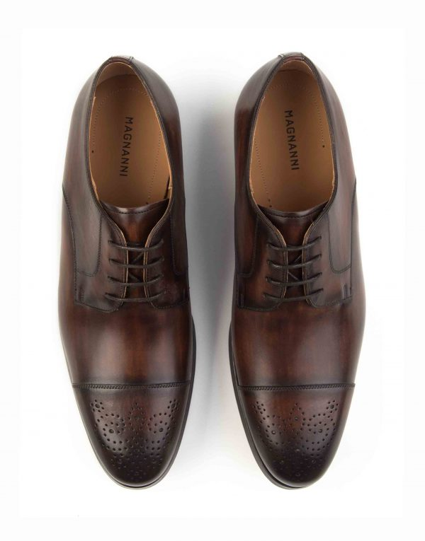 BROWN CAP-TOED DERBY SHOE4