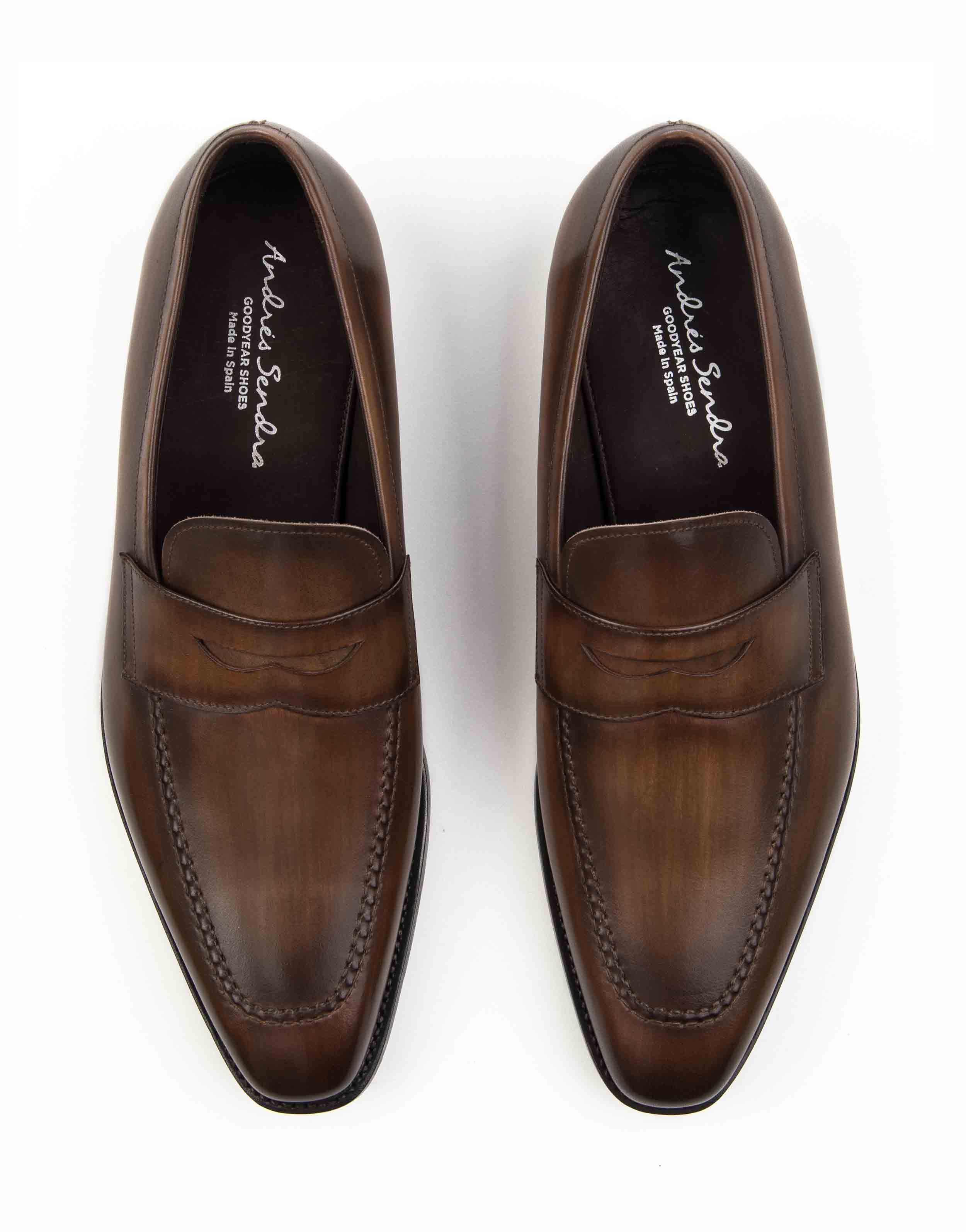 BROWN PENNY LOAFERS4