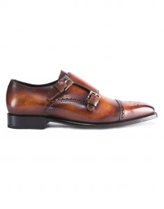 BURNT BROWN PATINA DOUBLE MONK1