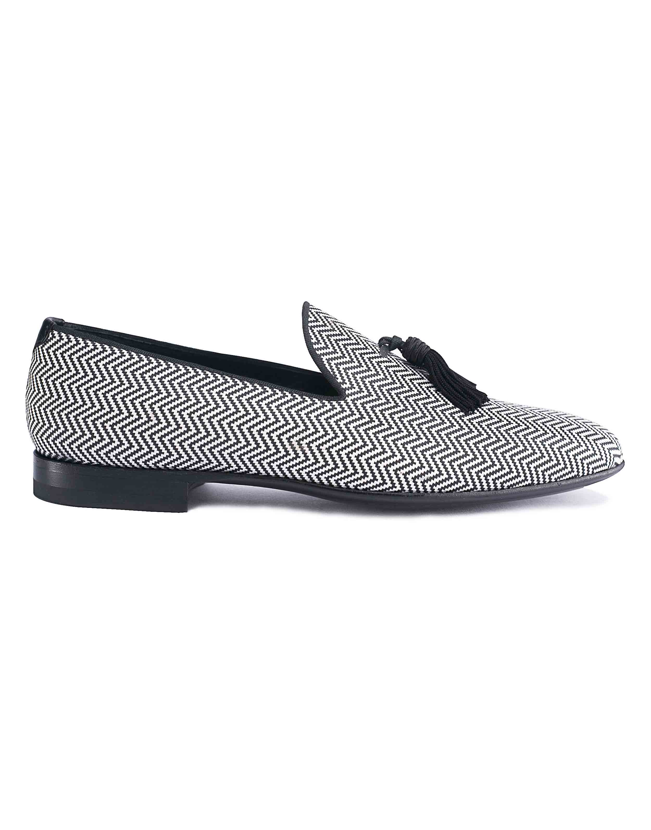 CHEVRON JACQUARD TASSEL LOAFER1