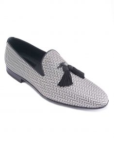 CHEVRON JACQUARD TASSEL LOAFER2