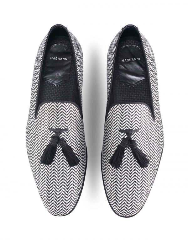 CHEVRON JACQUARD TASSEL LOAFER4