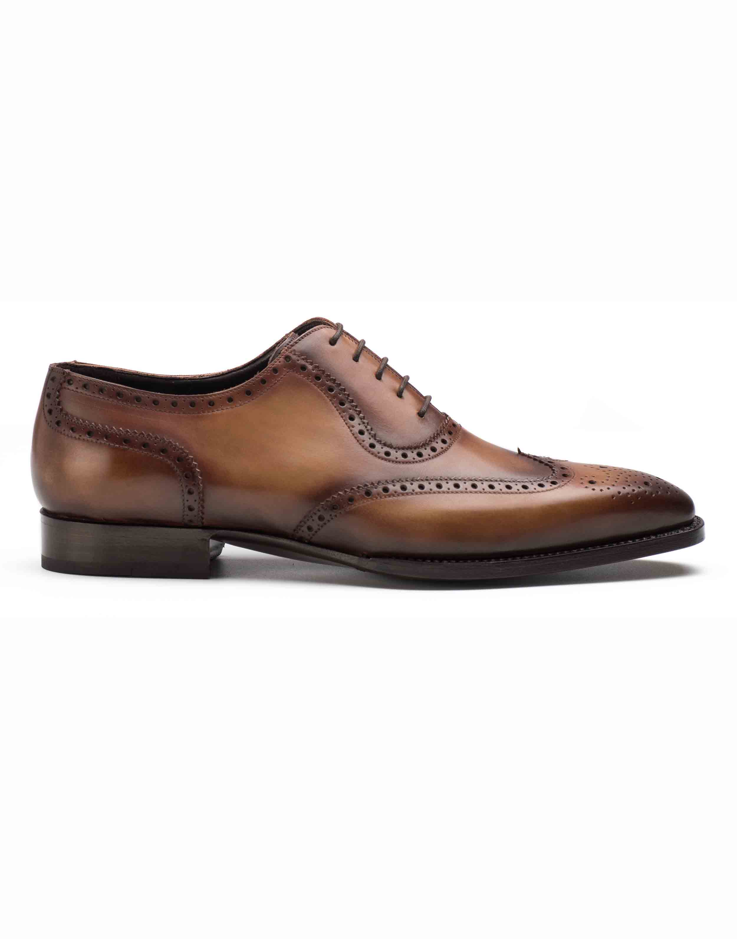 COGNAC BROGUE OXFORD SHOE1